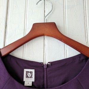 Ann Klein purple short sleeve sheath midi dress 8